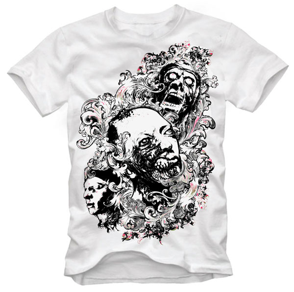 free vector Trend pattern skull tshirt design vector