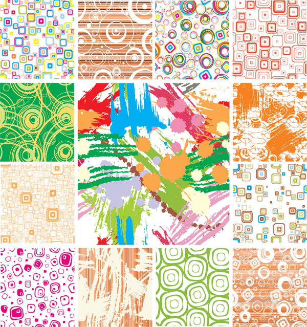free vector Trend pattern vector background