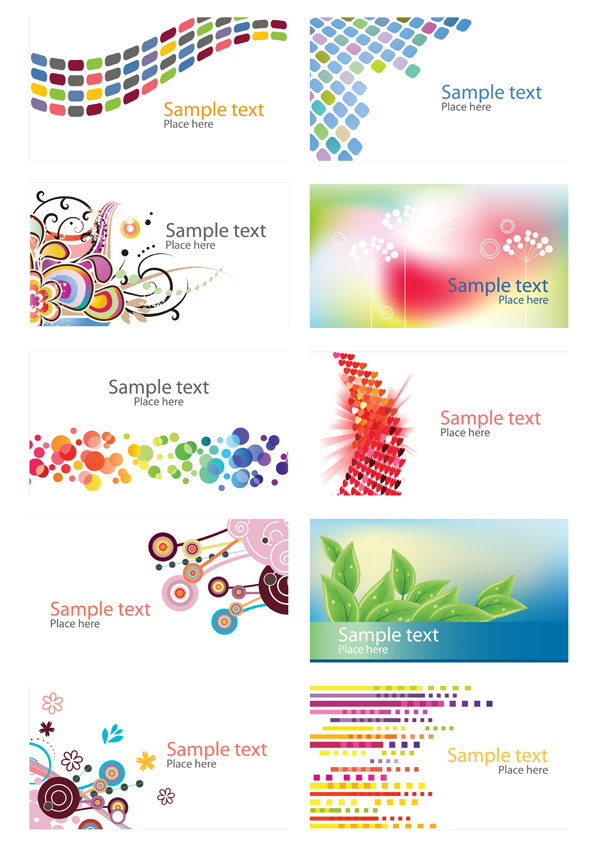 free vector Trend vector colorful cards