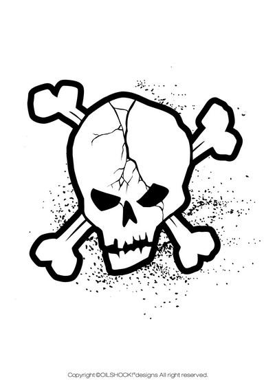 free vector Trend vector series 1 skull and crossbones 54
