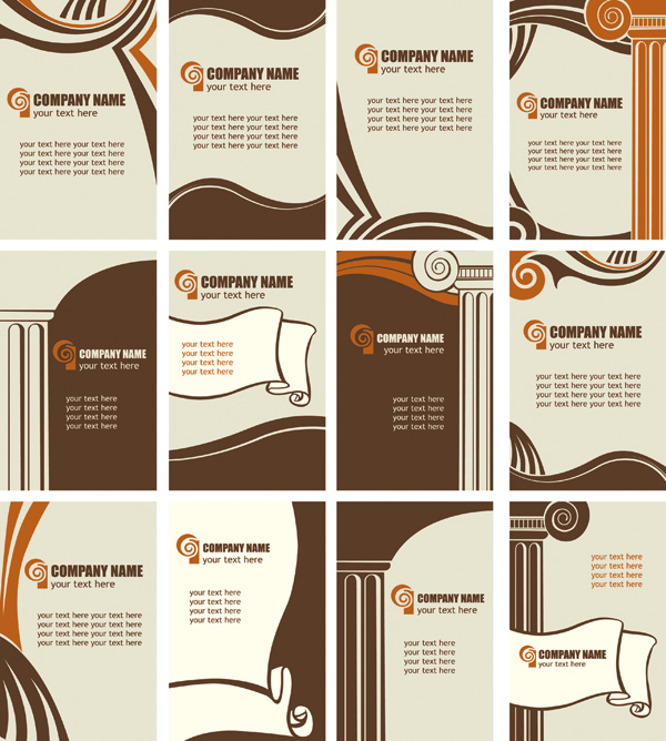 free vector Trends and classic card template vector