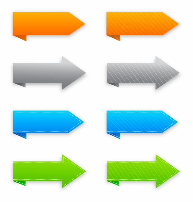 free vector Trendy arrows