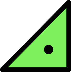free vector Triangle With Dot clip art