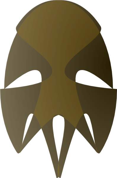 free vector Tribal African Mask clip art