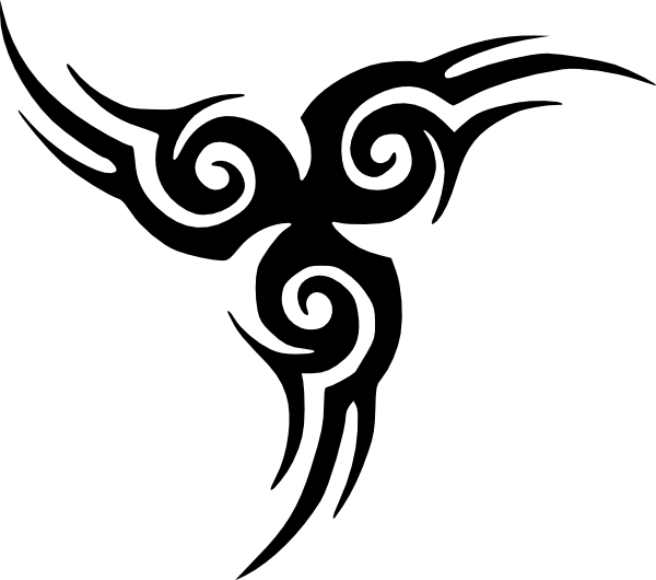tribal tattoo clip art free vector / 4vector