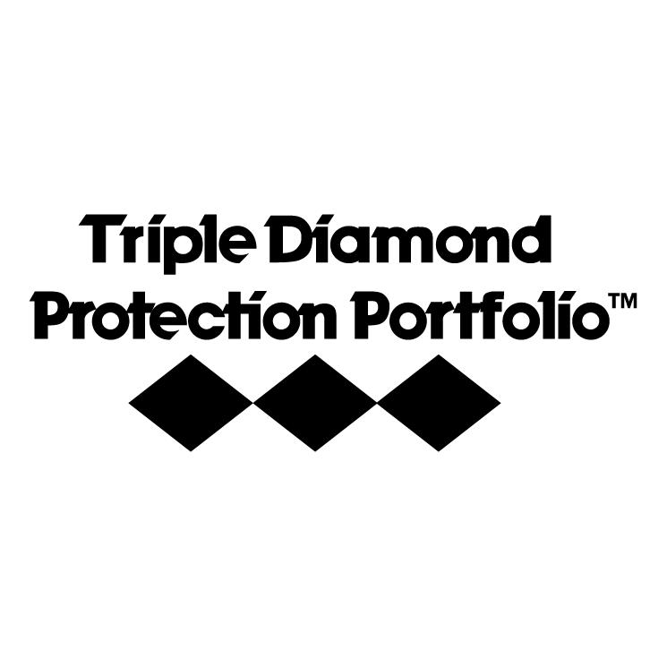 free vector Triple diamond protection portfolio