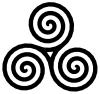 free vector Triple Spiral Symbol Filled clip art