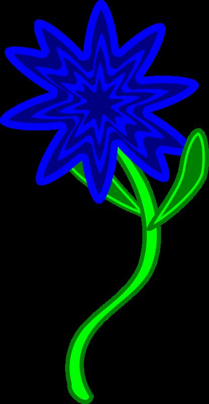 free vector Triptastic Blue Flower