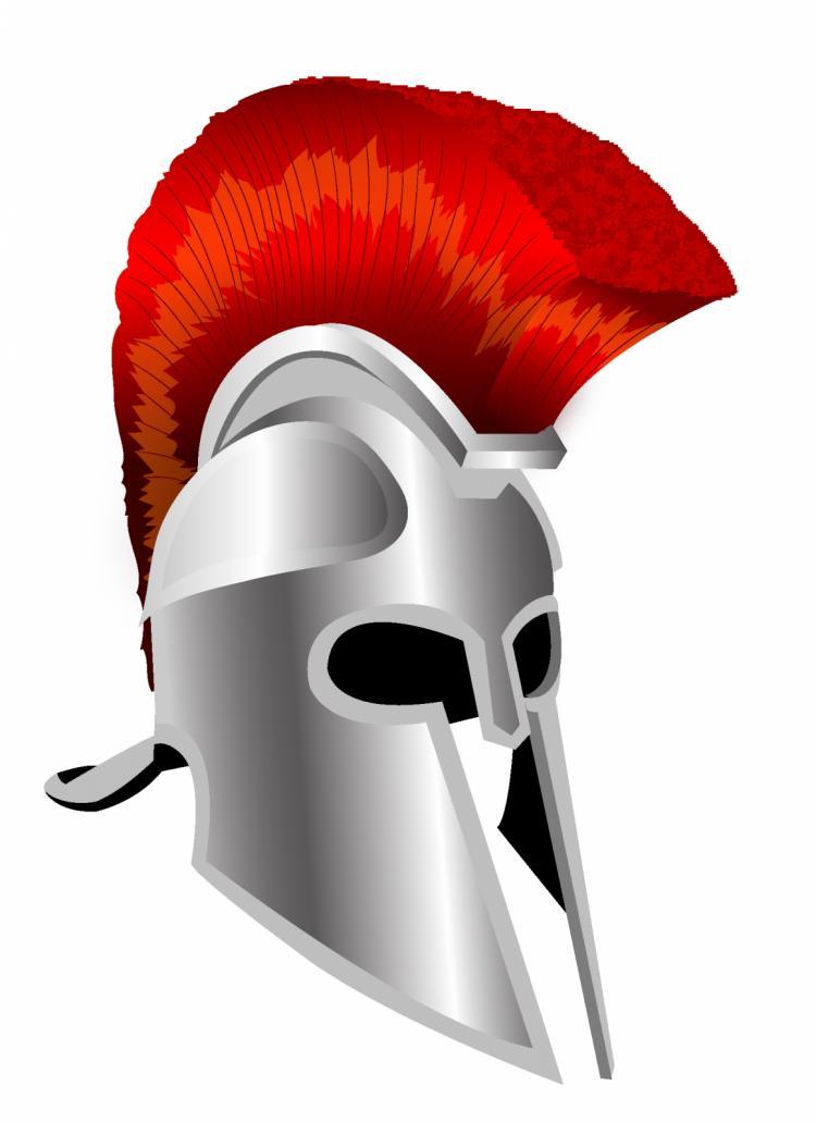 free vector Trojan helmet