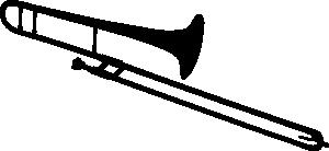 free vector Trombone Silhouette clip art