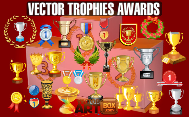 free vector Trophies Awards