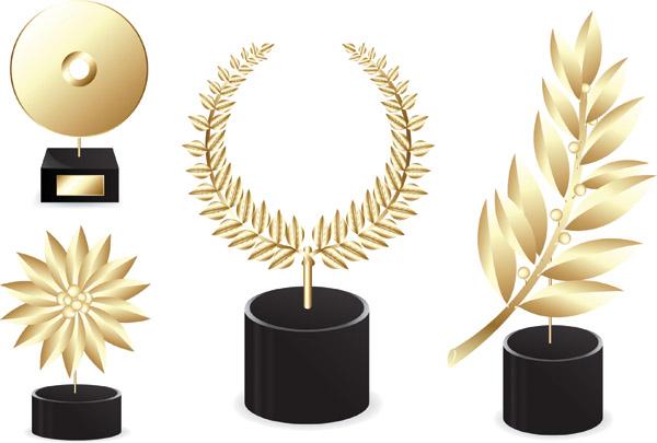 free vector Trophies medals vector