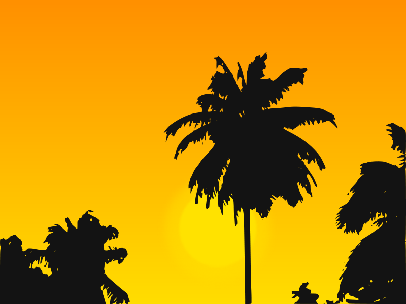 free vector Tropic Sunset