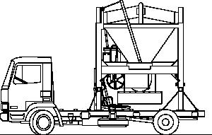 free vector Truck And Sandmixer clip art