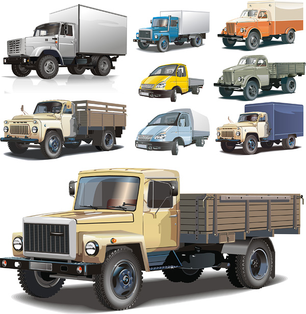 free vector Truck vector material