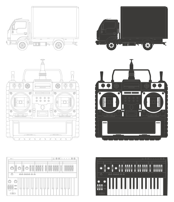 free vector Trucks video recorder keyboard vector