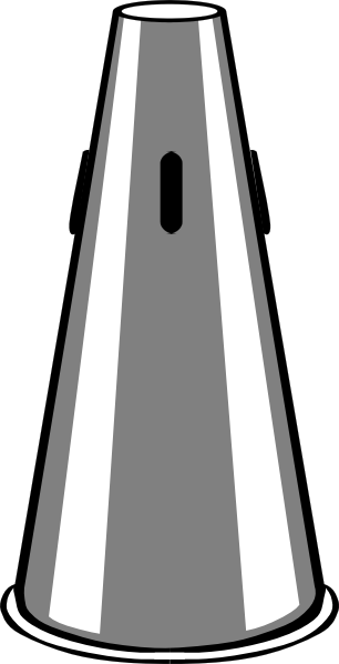 free vector Trumpet Straight Mute clip art