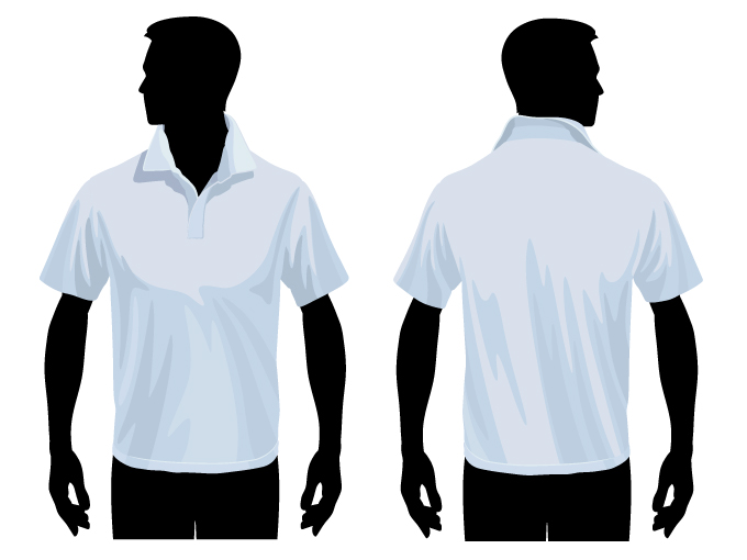 free vector Tshirt template vector