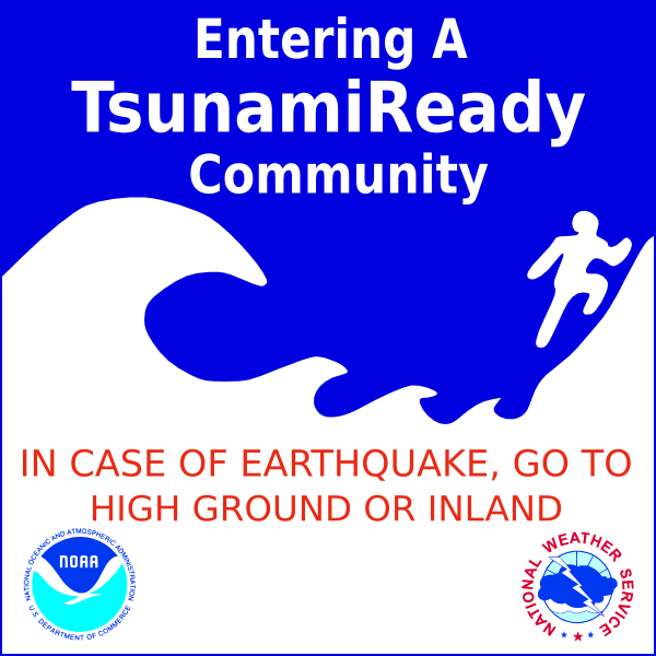 free vector Tsunami Warning Sign clip art
