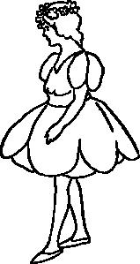 free vector Tulip Girl clip art
