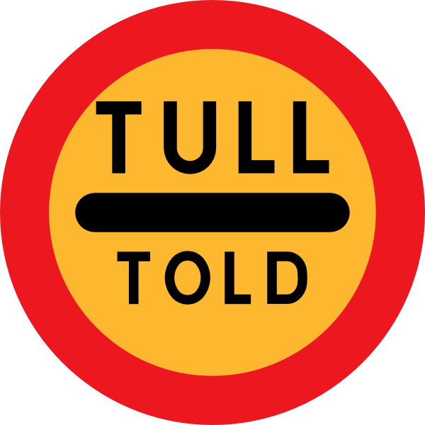 free vector Tull Told Sign clip art