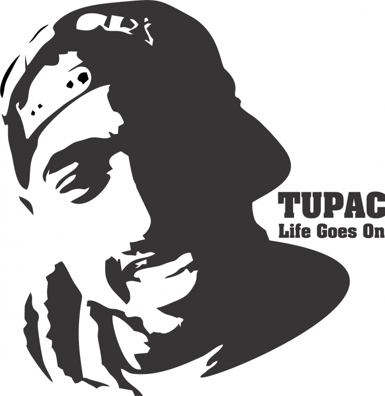 free vector Tupac Shakur T Shirt Design Vector