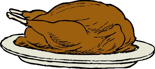 free vector Turkey On A Platter clip art