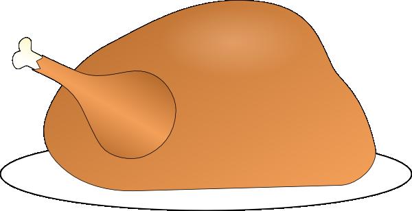 free vector Turkey On Platter clip art