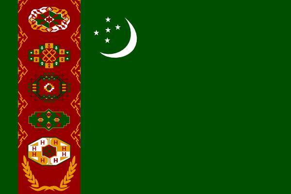 free vector Turkmenistan clip art