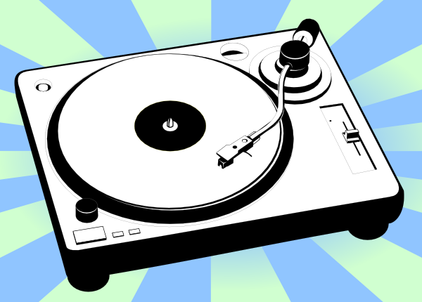 free vector Turntable Music Player clip art
