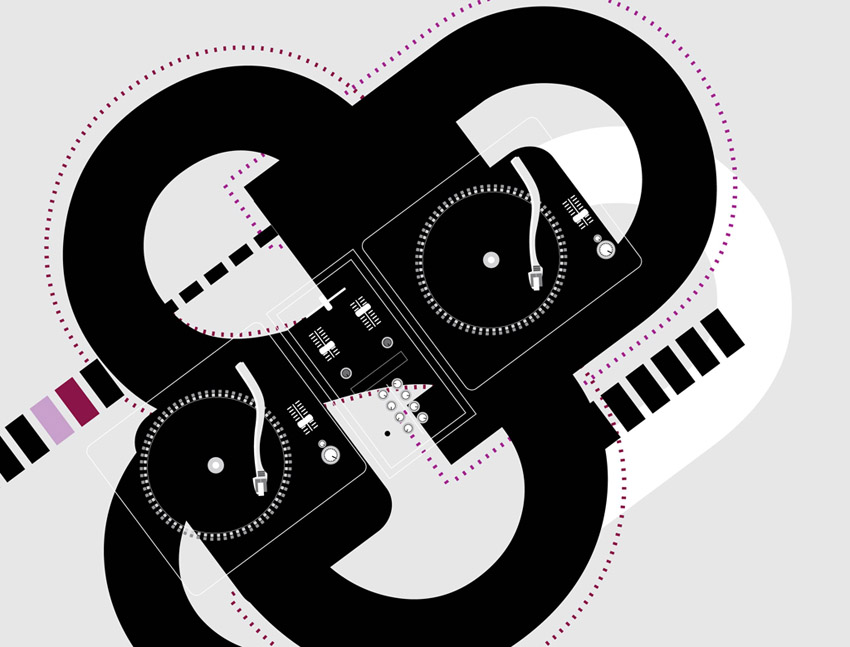 free vector Turntables