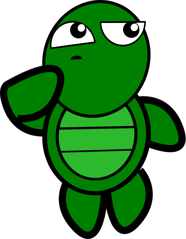 free vector Turtle-Thinking
