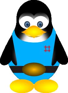 free vector Tux Penguin clip art