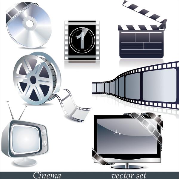 free vector Tv movie theme vector