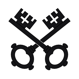 free vector Two Black Keys Wipp Dorf Coat Of Arms clip art