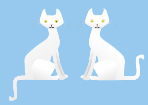 free vector Two Cats clip art