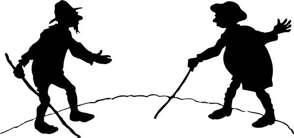 free vector Two Men With Canes clip art
