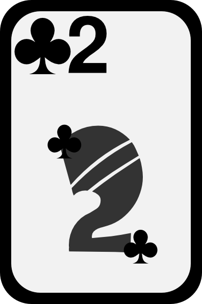 free vector Two Of Clubs clip art