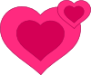 free vector Two Pink Hearts Together clip art