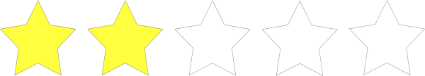 free vector Two Star Rating clip art