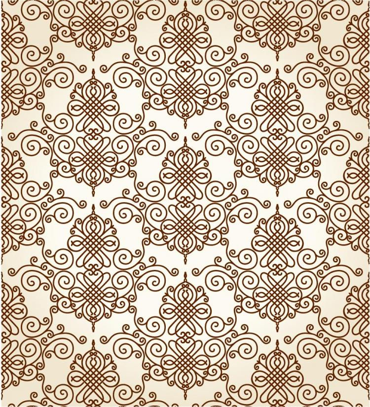 free vector Twoparty continuous pattern 01 vector