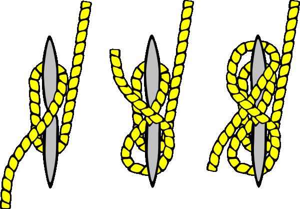 free vector Tying Knots clip art