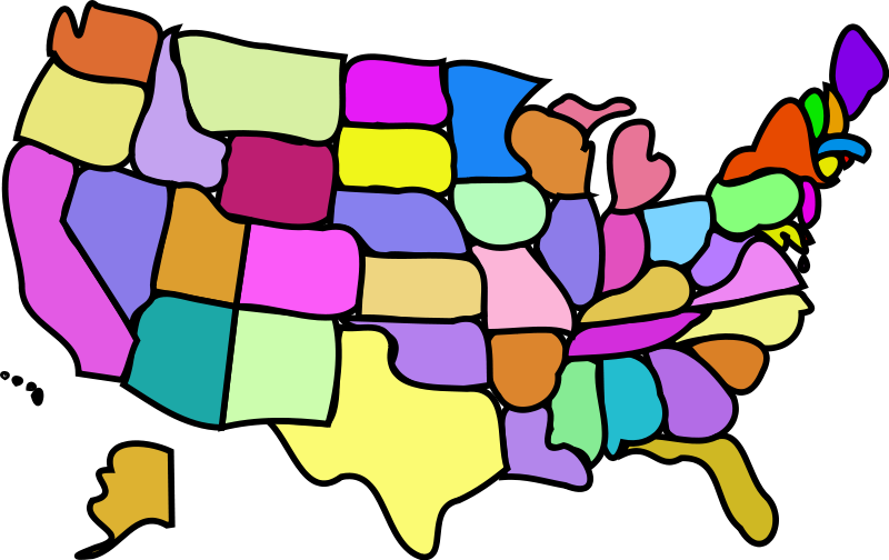 U.S. Map, Cartoony Free Vector / 4Vector