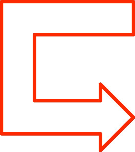 free vector U Shaped Arrow Set clip art