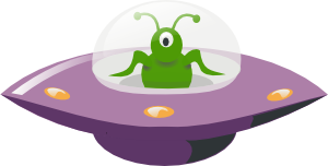 free vector Ufo Cartoon clip art
