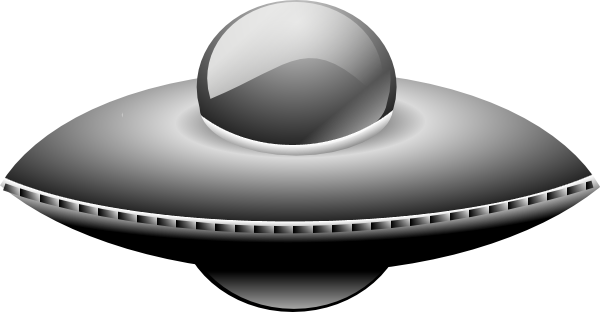 free vector Ufo In Metalic Style clip art