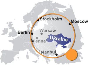 free vector Ukrainian Map Under Magnifier clip art