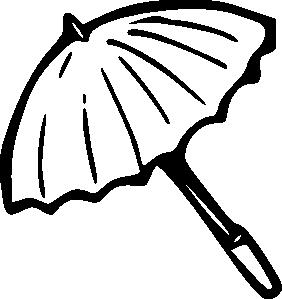 free vector Umbrella Outline clip art