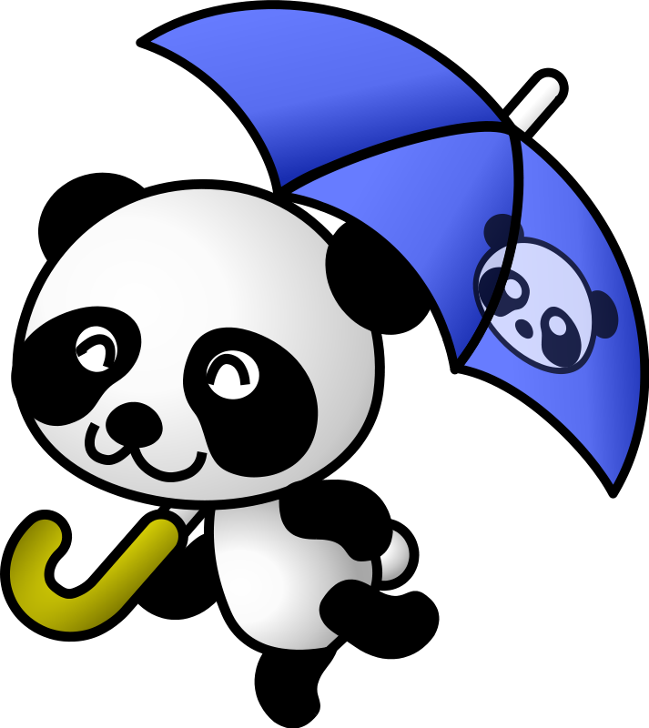 free vector Umbrella panda