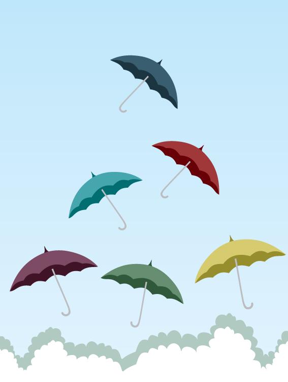 free vector Umbrella theme of vector